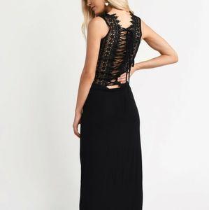 Tobi black maxi dress